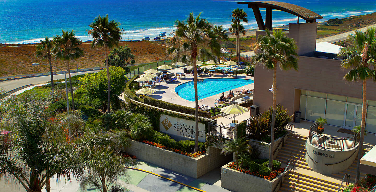 WELCOME TO THE CARLSBAD SEAPOINTE RESORT SPACIOUS CONDOMINIUMS BESIDE THE PACIFIC OCEAN